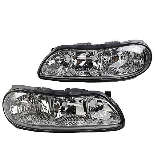 (2PC Front Left Right Car Headlights OE Style Replacement Headlamps Housing for Chevrolet 1998 1999 2000 2001 2002 2003 Malibu & 2004-2005 Classic | 1997-1999 Oldsmobile Cutlass)