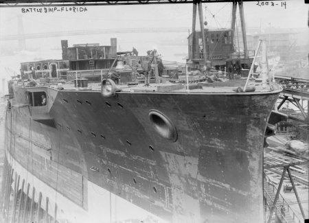 early 1900s photo Battleship ''Florida'' Vintage Black & White Photograph d4