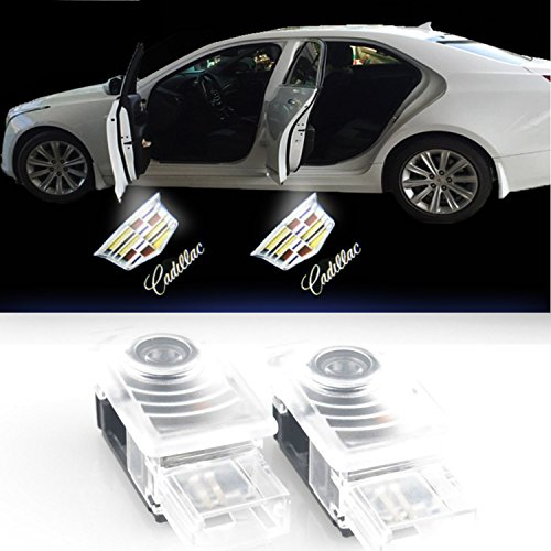 Car Door Welcome Lights Ghost Shadow Logo Light Led Door Projector for Cadillac New Logo Easy Installation