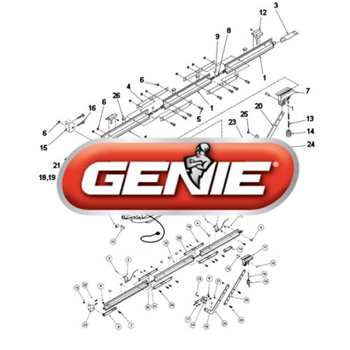 Genie 36664R.S Garage Door Opener Shuttle Assembly ()