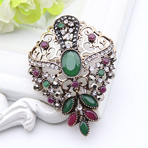 Purpose Resin - Brooch Pendant Dual Purpose Women Jewelry Colorful Resin Broches Brooches India Bridal Jewelry Hijab Pins-in Brooches