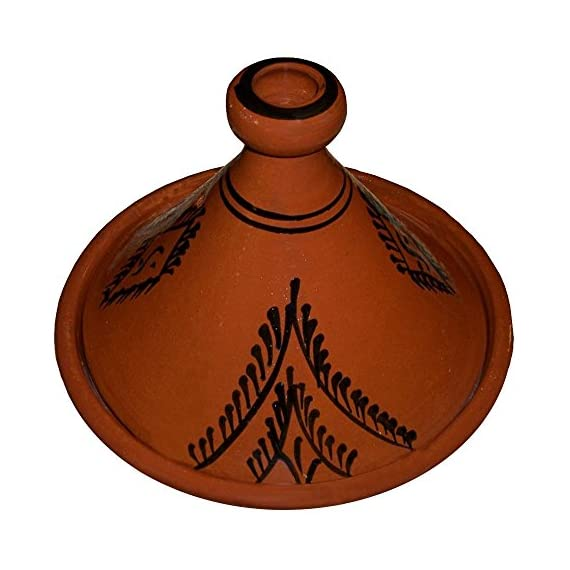 Moroccan lead free cooking tagine 100% handmade clay cookware 1 moroccan tagine - handmade cooking tagine large 12. 2 inches in diameter ideal for cooking on top of any kind of stove and inside the oven traps condensation to keep food moist and infused easy to clean