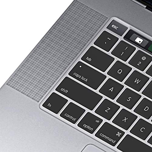 OJOS Ultra Thin TPU Keyboard Cover Skin MacBook Pro 16 inch 2019 2020 Release A2141 with Touch Bar and Touch ID (Transparent)