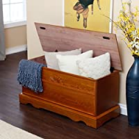 Special Offer! Crafted Oak Finish Laurel Ceda Hardwood Exterior Hope Chest !