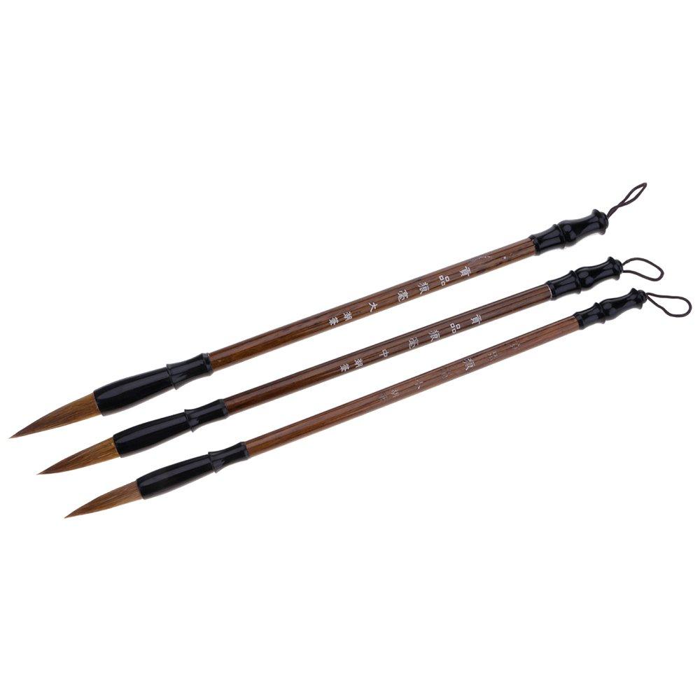 Mmrm 3pcs/set Chinese Brush Painting Kit Master Calligraphy Kanji Sumi Painting Brushes - Lang Hao