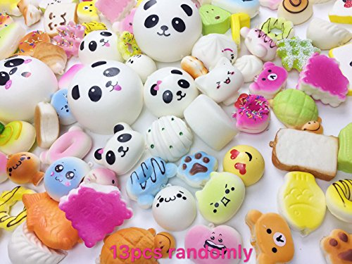 Originnt 13 Pieces Random mediuml mini Slow Rising Squishies