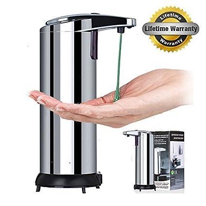 GuGuo Dispensador de jabón Automático, 280ml Dispensador de líquidos,Dispensador automático de jabón de