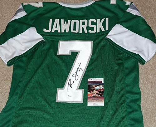 Autographed Ron Jaworski Jersey - Throwback + Witness COA #WPP098663 - JSA Certified - Autographed NFL Jerseys