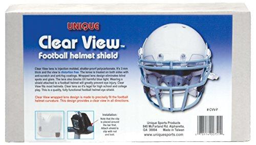 Unique Sports Clear View Football Helmet Eye Shield