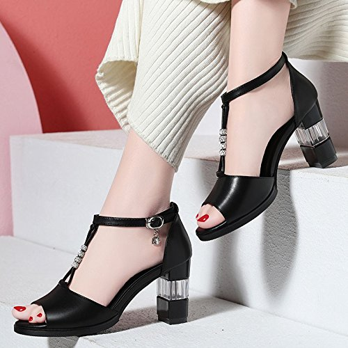 Alti sandali da Nuovo spessore Estate Tacchi bocca ... Roman Donna donna ... bocca ac6a00