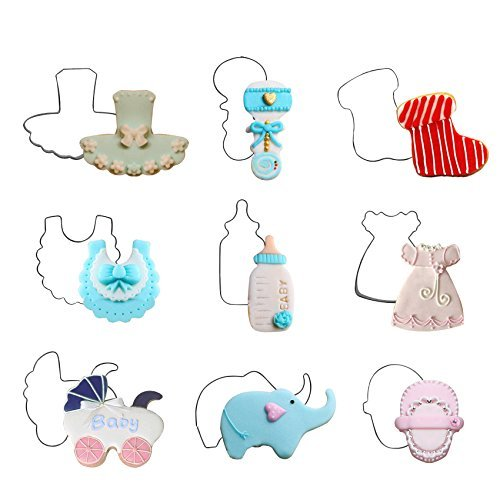 Musykrafties Baby Shower Children Birthday Cookie Cutters Set 11-piece Bundle