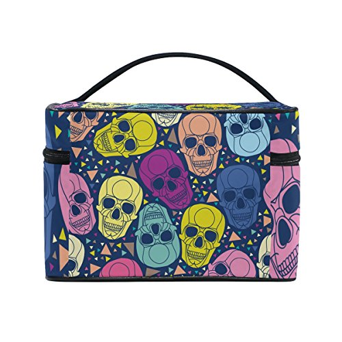 Sugar Skull Dia De Los Muertos Cosmetic Bags Travel Makeup T