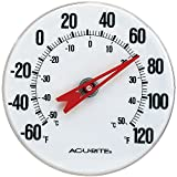 AcuRite 00346A2 5-inch Thermometer with Mounting Bracket