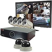REVO America REH81D2GB4GM22-2T Elite HD 8 Ch 2TB NVR Surveillance System with 6 2.1 Megapixel HD Cameras (Grey)