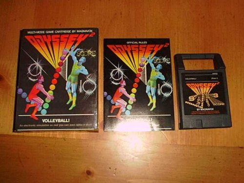 2 Games Odyssey Magnavox - Volleyball! Odyssey 2 Game