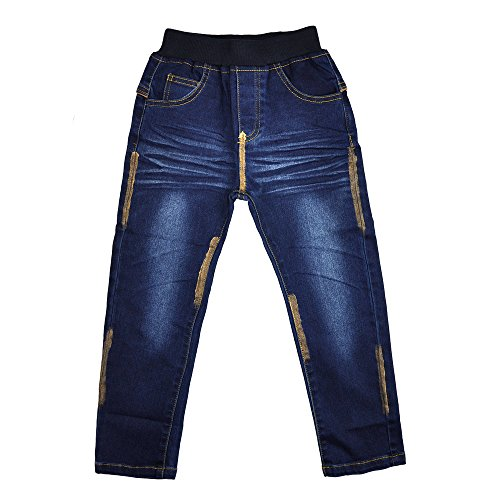 AIMBAR Kids Boys Casual Fashion Slim Elastic Waist Jeans Size 4-13 Years (4-5 Years)