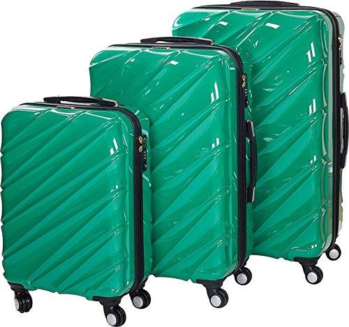 Shaik 7203080 Trolley Koffer, 3er Set ( M, L, XL), grün