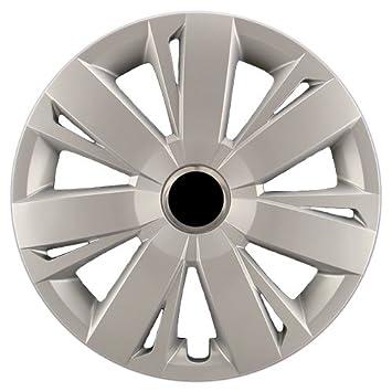 """hubcaps. com – PREMIUM CALIDAD – VW Jetta réplica Tapacubos, 16 """"plata"""