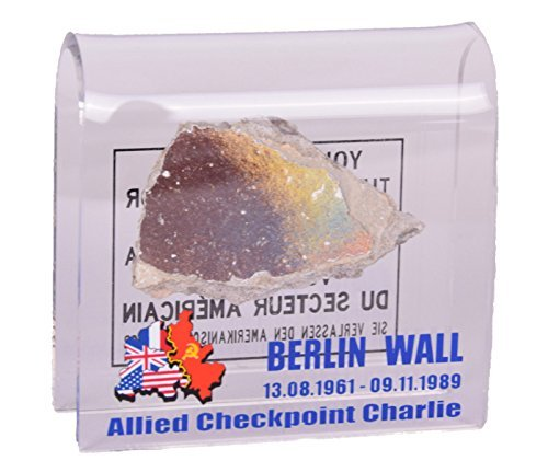 Original Piece of the Berlin Wall in Checkpoint Charlie Motive Souvenir in Acryl Glass