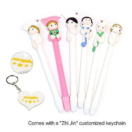 Amazon Com Zhi Jin 6pcs Cute Soft Pottery Doll Pens Set Ballpoint