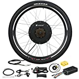 "Voilamart 26"" Rear Wheel Electric Bicycle Conversion Kit, 48V 1500W E-bike Powerful Hub Motor w/ Intelligent Controller Secret Wire Restricted to 750W for Road Bike"