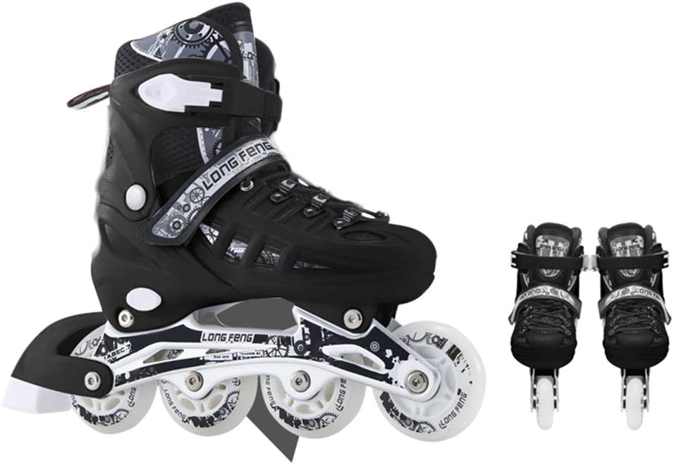 GBRALX Unisex Inline Skates Sports Outdoors Roller Skates Adjustable with Light Up Wheels Inline Roller Skating Roller Skates Roller Skate Parts Protective Gear Sets
