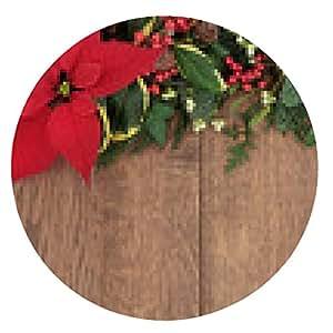 alfombrilla de ratón Floral de la frontera de la Navidad - ronda - 20cm