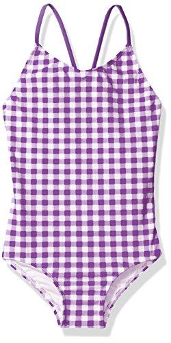 - Kanu Surf Little Girls' Chloe Beach Sport 1-Piece Swimsuit, Lilly Purple Check, 6