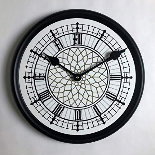 Big Ben White Wall Clock, Available in 8 Sizes, Most Sizes Ship 2-3 Days, Whisper Quiet.