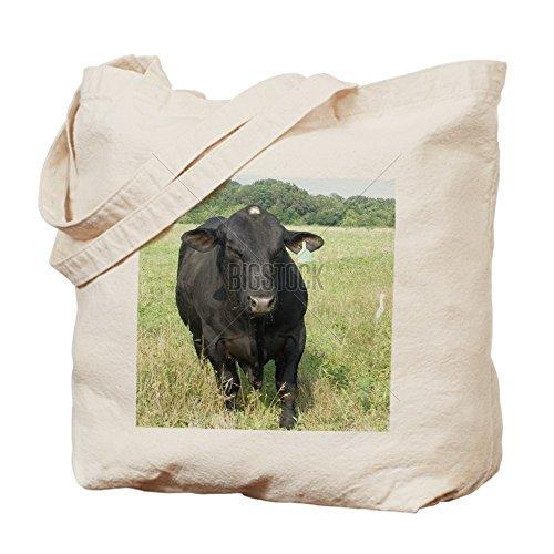 CafePress Black Angus Bull - Natural Canvas Tote Bag, Clo...