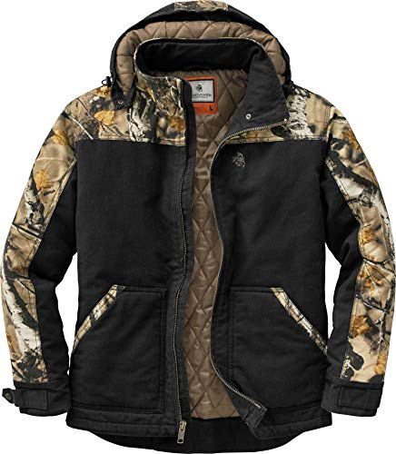 (Legendary Whitetails Canvas Cross Trail Workwear Jacket Black Large)