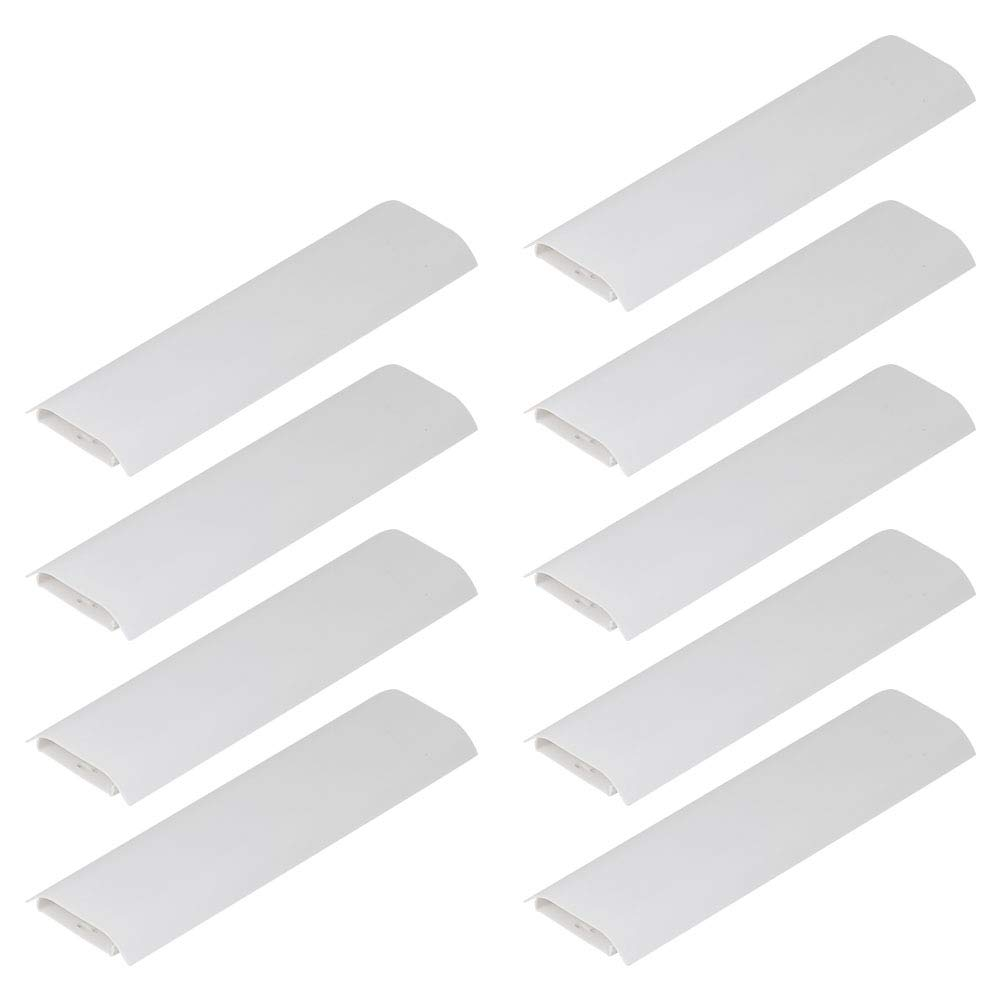 BAKTOONS Cord Covers Wall, Cables Conceal Cover, TV Cord Cover for Wall 9pcs, White