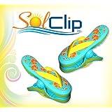 Beach towel clips Flip Flop aqua - SolClip / Canada.