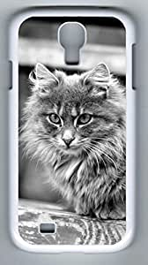 Cat Hard Cover Back Case For Samsung Galaxy S4,PC Fashion White Case for Samsung Galaxy S4 i9500