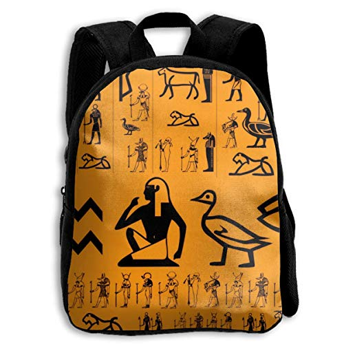 Backpack Kids Sturdy Cute Schoolbags Back to School Backpack for Boys Girls Children - Ancient Egypt Clipart ()
