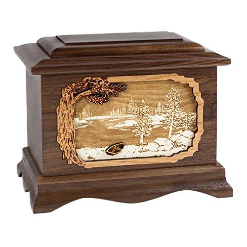 Wood Cremation Urn - Walnut Lakeshore Ambassador