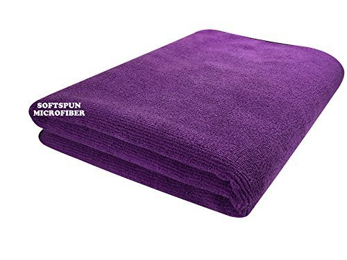 SOFTSPUN Microfiber Bath & Hair Care Towel - 60x120 Cms (Purple)