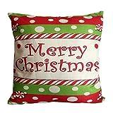 Pgojuni Home Decor Cushion Cover Christmas Throw Pillow Cover Cushion Cover Square Pillow Case for Sofa/Car/Bed 1pc (G)