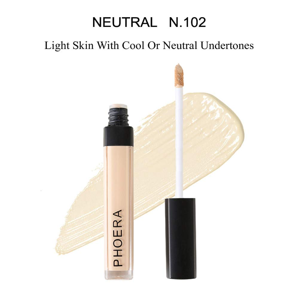 Liquid Foundation, Longay PHOERA Makeup Concealer Liquid Moisturizer Conceal HD High Definition Foundation (B)