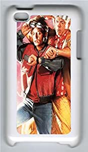 Back To The Future Marty And Dr Emmett Custom iPod 4 Case Cover Polycarbonate White