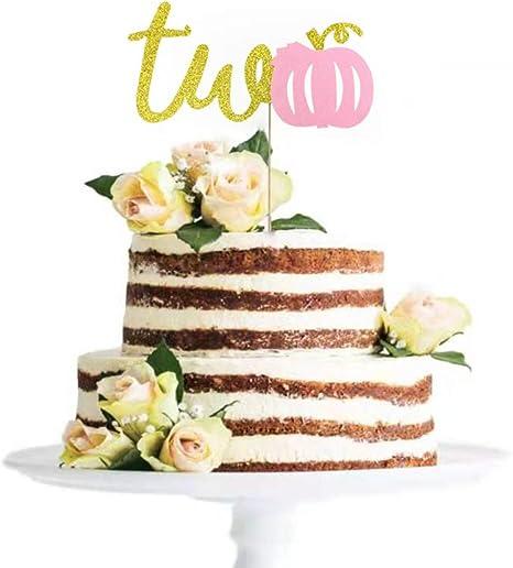 Magnificent Amazon Com Pumpkin Two Pink Cake Topper Little Pumpkin 2Nd Funny Birthday Cards Online Aboleapandamsfinfo