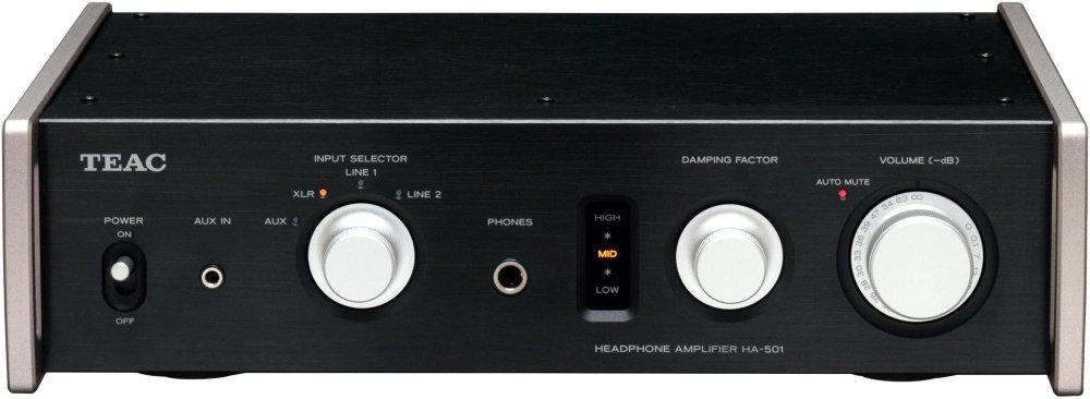 TEAC Reference 501 ヘッドホンアンプ フルアナログデュアルモノーラルサーキット ハイレゾ音源対応 ブラック HA-501-B B00AE991VG