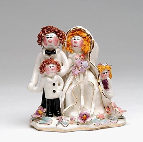 ATD 31809 5 Inch Pink Cheek Newlywed Family Cake Topper
