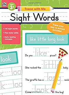 Amazon 100 write and learn sight word practice pages sight words trace with me expocarfo
