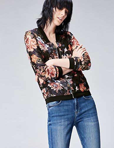 Femme FIND Blouson Multicolore Transparent Multicoloured Fleuri wBSBtq6