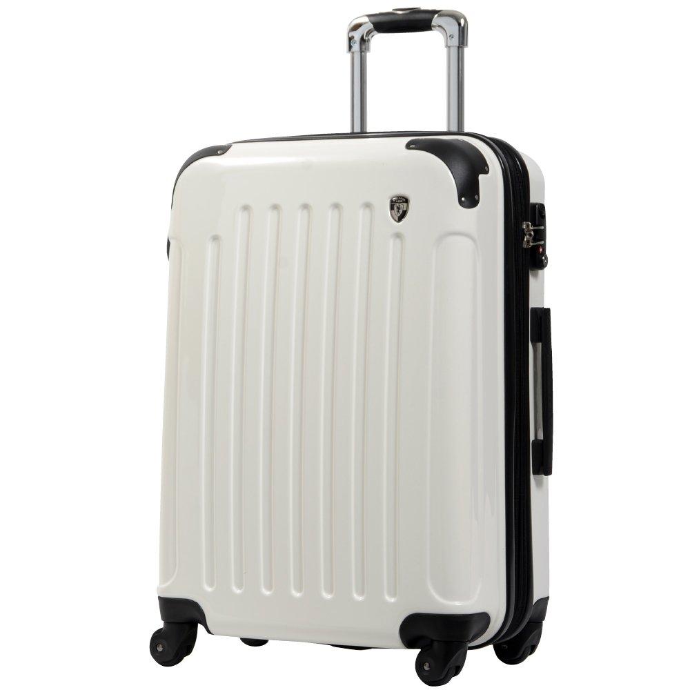 [グリフィンランド]_Griffinland TSAロック搭載 スーツケース 超軽量 ミラー加工 newFK1037 ファスナー開閉式 B003IMN0PO M(中)型|シルクホワイト シルクホワイト M(中)型