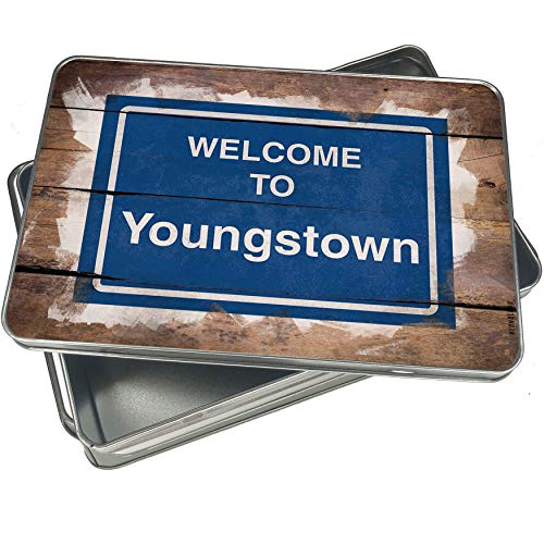 NEONBLOND Cookie Box Sign Welcome To Youngstown Christmas Metal - Box Youngstown