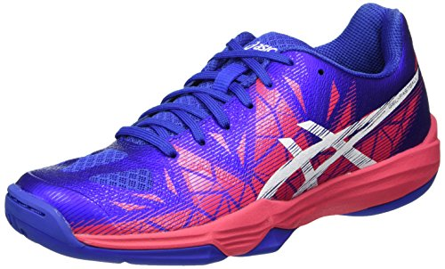 Asics Gel-Fastball 3, Zapatillas de Balonmano para Mujer Morado (Blue Purple/White/Rouge Red)