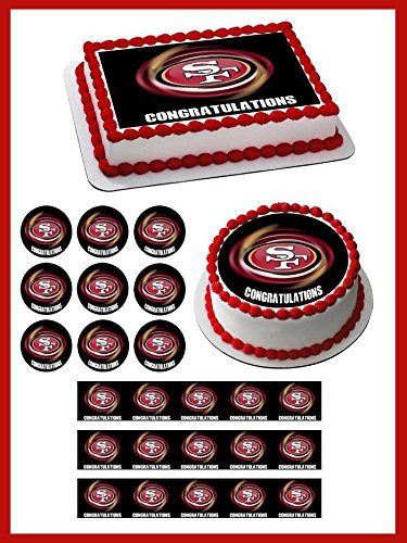 San Francisco 49ers B - Edible Cupcake Toppers - 1.8