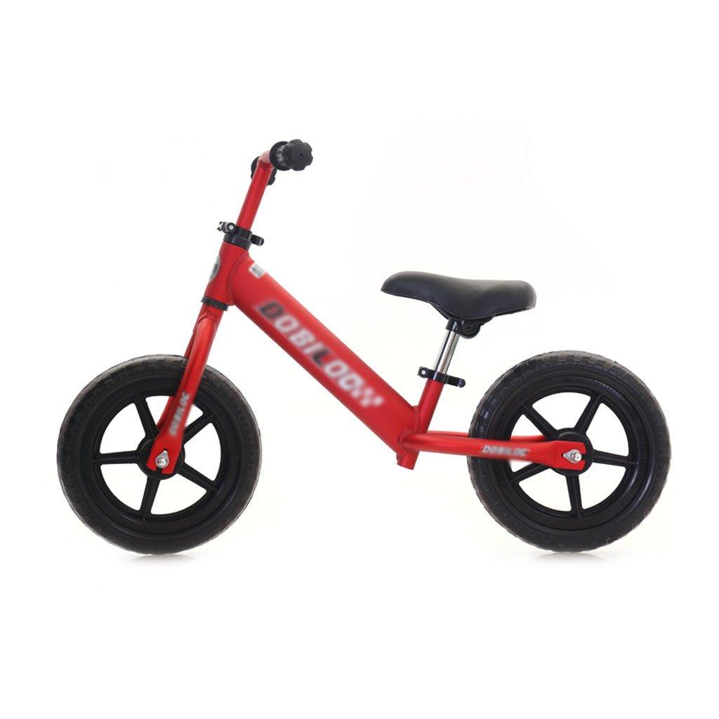 赤ちゃんのスクーターバランス車は、ペダルを使わずに子供のバランスの自転車を膨らませる必要はありませんバギー子供のスクーター2つのラウンドウォーカー子供のダブルホイール自転車12インチ2-6歳 B07F57FS14 Red Red